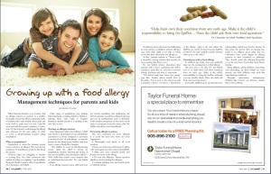 Growing up with a food allergy