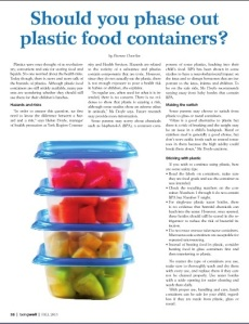 Should you phase out plastic food containers